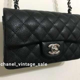 現貨Chanel classic mini 20cm 牛皮銀扣