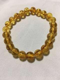 Citrine Yellow Crystal Bracelet - 黄水晶 (聚财, 偏财, 建康)