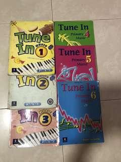 Tune 1-6 primary book each $5