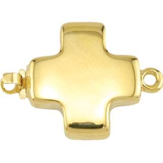 🚚 BEADALON Upper Clasp Findings, Cross Heavy (Gold Plated)