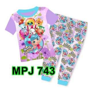 Shopkins Short Sleeve Pyjamas For (2 Yrs To 7 Yrs)
