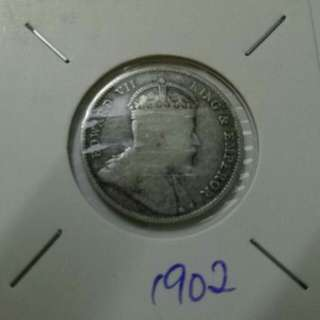 Old Coin Of Straits Settlement 20cent silver Coin