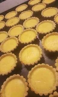 Homemade egg tarts