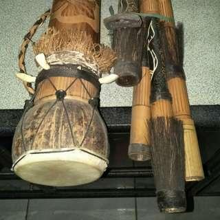 原始傳統非洲土著鼓