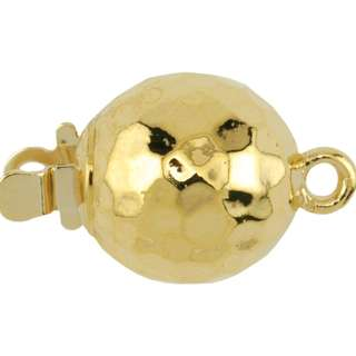 Beadalon Upper Clasp Findings,Round Faceted, Gold Plated
