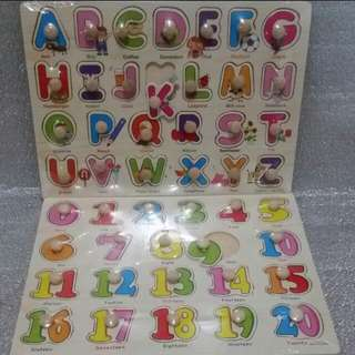 PEG puzzles (numbers and letters)