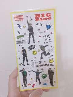 BIGBANG 飯製 貼紙 GD TOP 太陽 大聲 勝利 周邊