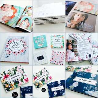 Calling Cards, Coffeetable Books, Brochures, Gift Tags, Sticker Labels, Invitations, Photo Cards & Booklets