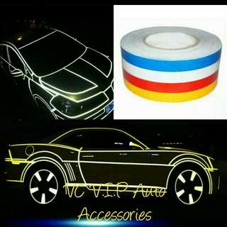 Car styling night reflective tape