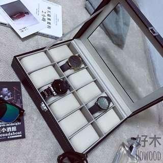 🚚 質感 皮革 錶盒 飾品盒 收納盒 內絨布