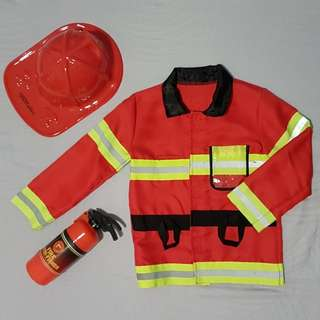 Kids Fireman Costume Set (3-5 Years Old)