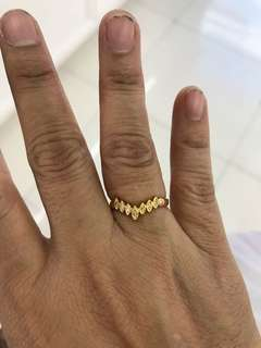 V ring with titos stone