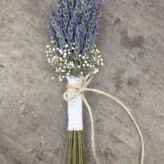 Lavender with Baby Breath Bouquet