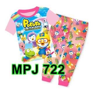 Pororo the Little Penguin Short Sleeve Pyjamas For (2 Yrs To 7 Yrs)