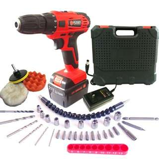 21V Charging Drill Electric Hand Drill Cordless Screwdriver Set