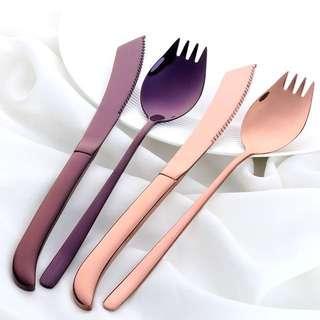 🚚 304不銹鋼刀叉勺餐具組