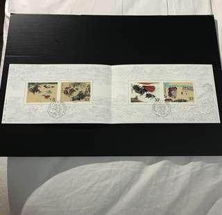 China Stamp - T123 水浒传(第一组) 邮折 Booklet 中国邮票 1987