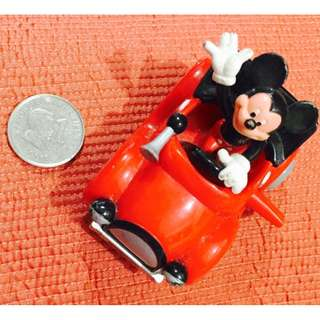 Mickey Mouse in His red Car - Wind Up Toy