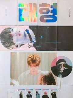 BTS V韓站VIA SLOGAN (送BTS官方poster LOVE 1set)