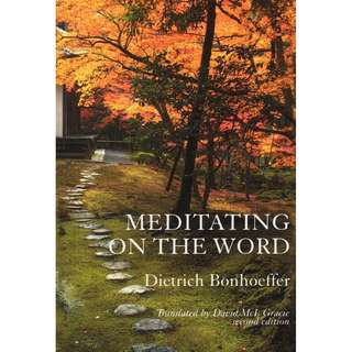 [eBook] Meditating on the Word - Dietrich Bonhoeffer