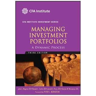 Managing Investment Portfolios: A Dynamic Process (CFA Institute Investment Series) 3rd Edition, Kindle Edition by John L. Maginn (Editor), Donald L. Tuttle (Editor), Dennis W. McLeavey (Editor), Jerald E. Pinto  (Editor)