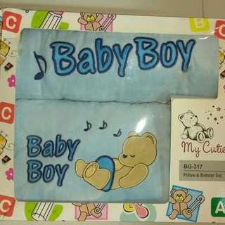 Baby Boy Gift Set - Pillow & Bolster Set