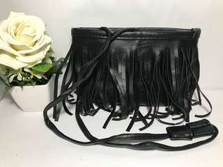 Black Tassel Sling Bag