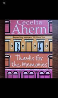 Cecilia Ahern - thanks for the memories