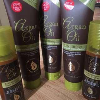 Argan oil - left hair styling gel only