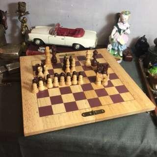 西洋原木棋盤