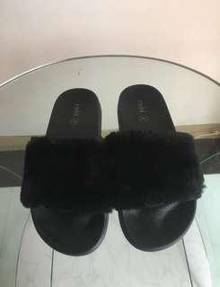 Rubi women's furry slides