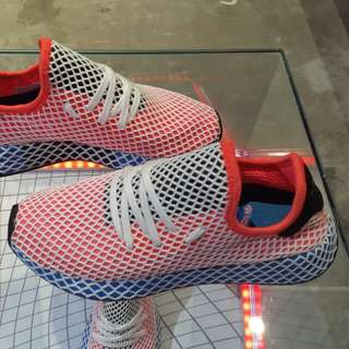 Adidas Deerupt Red & Blue