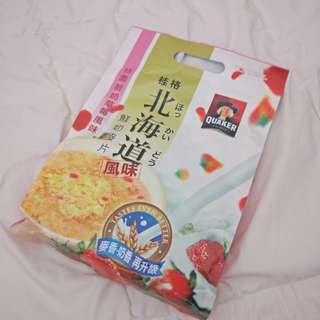 北海道鮮奶麥片(草莓風味)