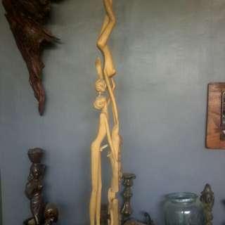 """""""Patung kayu ukiran """" Adam dan Hawa"""" unik"""