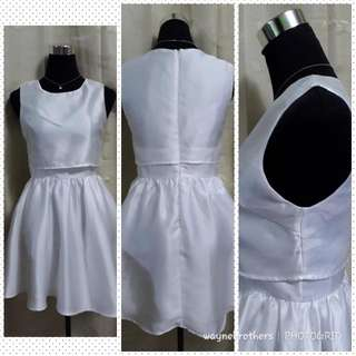 DOUBLE LAYERED WHITE DRESS