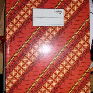 Note book red batik cover