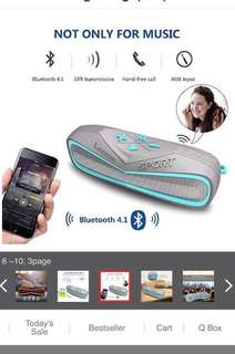 Waterproof Bluetooth Speaker, Leeron Marine and Waterproof IPX7 Wireless Bluetooth 4.1