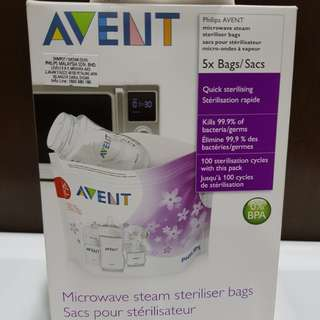 Philips AVENT microwave steam steriliser bags