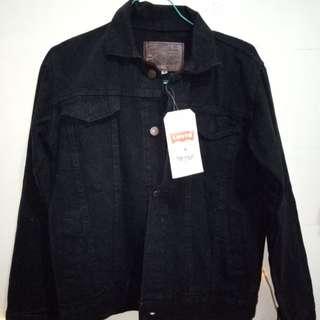 Oversized jacket denim black