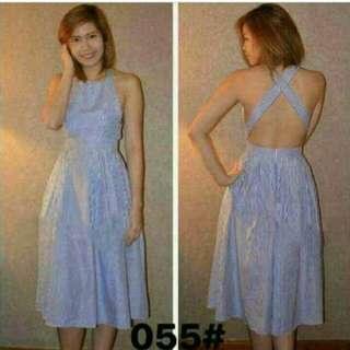 Dress w/ Cross Back