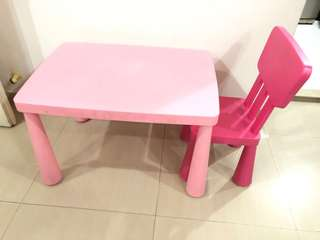 IKEA mammut Kids table and chair