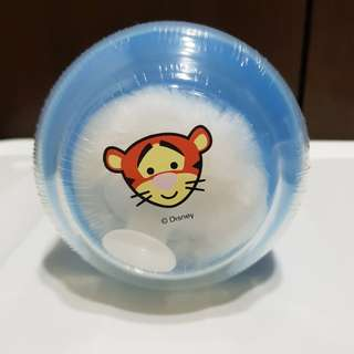 Disney baby powder & puff container (blue tiger)