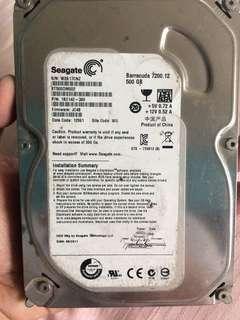 Seagate hard disk 500gb