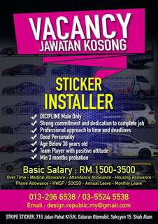 Full Time Sticker Installer
