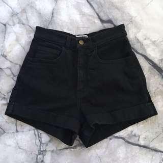 American Apparel black shorts 24/25