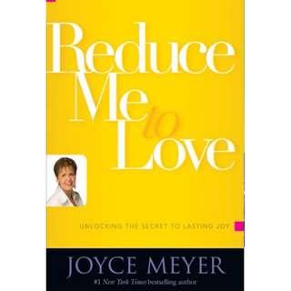 [eBook] Reduce Me to Love - Joyce Meyer