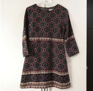 ABERCROMBIE AND FITCH printed dress