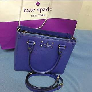 Kate Spade Quinn Wellesley Square leather tote