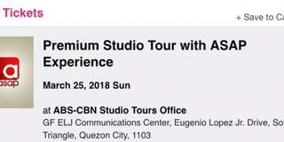 ASAP Experience with Studio Tour for one