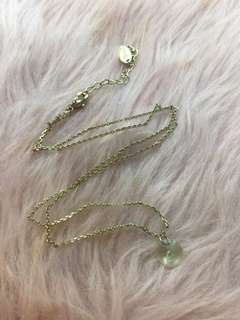 Topshop necklace with light green crystal